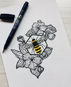 bee and flower