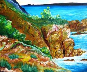Rocky cliffs on coast
