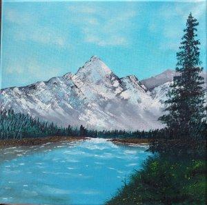 Invierno entre montañas