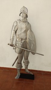 Sculpture Soldier with shield