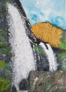 """""""The Sotillo de Sanabria Waterfall"""", 70x50cm"""