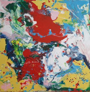 """""""COLORS AND EMOTIONS 06 """", 60X60 cm, 120 euros"""