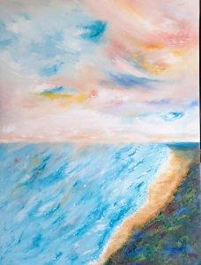 """"""" Colorful sky"""", 80x60, 180 euros"""