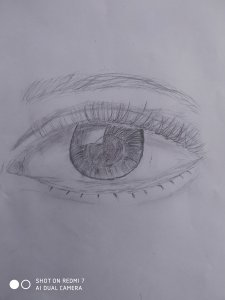 Eye in pencil