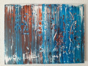 """""""ABSTACT COMPOSITION 11"""", 40x30 cm,"""