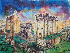 ROMAN FORUM. Roma series.