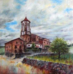Campanario de Gartzain. Navarra. Cuadros modernos online