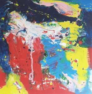 """""""COLORS AND EMOTIONS 05"""", 60X60 cm, 120 euros"""
