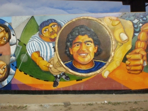 Mural Union Work and Sport. Author: C. Del Vitto