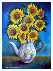 Pitcher of Enamorados with Sunflowers by Jose Prilo H.jpg