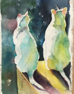 Cats at sunset