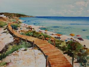 Playa Migjorn, Formentera 41x31 2013.JPG