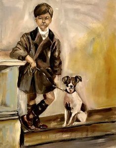 The boy and the dog
