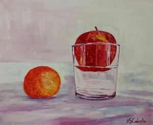 Manzana flotando