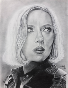 Ilustración - Retrato - Black Widow