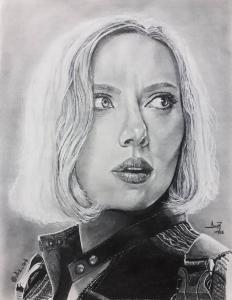 Illustration - Portrait - Black Widow