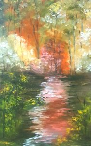 Autumn glow ... Original painting