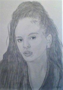 Retrato de Rosalia a Lapiz y Grafito