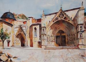 Basílica de Santa María, Morella 28,5x21  2007.JPG