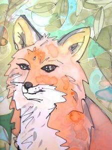 pañuelo de seda zorro rojo