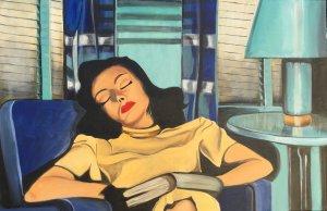 Mujer soñando 1