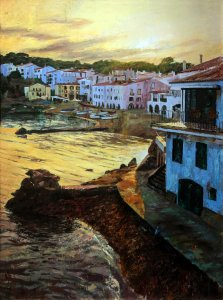 Calella de Palafrugell. Paintings for living room