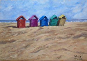 Little houses in the sand