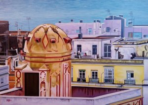 """Roofs of Cádiz"""