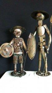 Don Quixote de la Mancha and his friend Sancho.