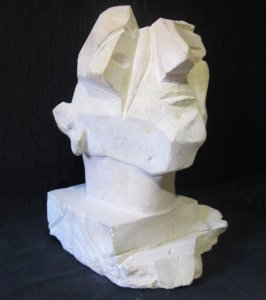 head of cubist man