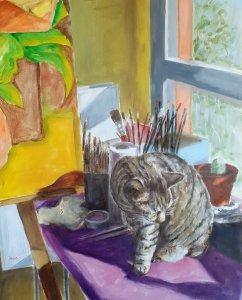 Oni, my cat painter