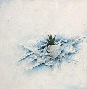 Jardin Azul- Serie de las Heridas que brotó Vida