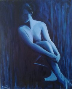 Woman in blue 1