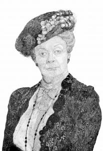 Maggie Smith en Dontown Abbey