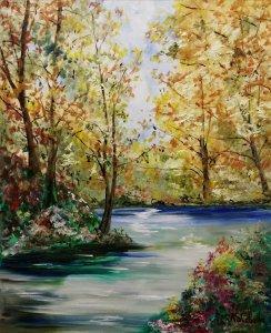La calma en el río