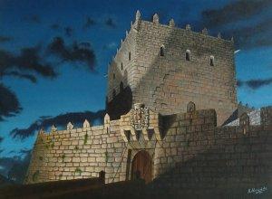 Castelo de Soutomaior (Pontevedra). Oil on canvas 40x30 cm.