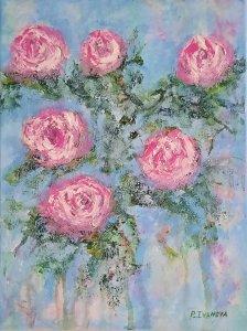 """""""Romantic roses 04"""", 40x30 cm, 80 euros"""