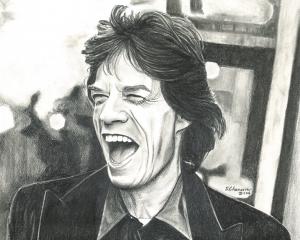 MICK JAGGER, Retrato a lapicero