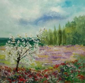 El almendro en primavera