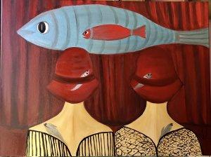"""Admiring the fish"""