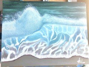 La espuma de la ola