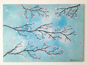"""""""SAKURA - cherry blossom"""", 70x50 cm, 160 euros"""