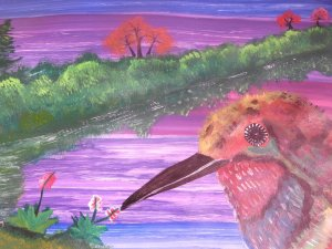 the brightness of a hummingbird