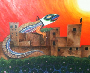 Lizard on the Alhambra