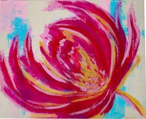 Flor Dorada 50x60