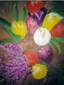 Tulipanes y lavanda
