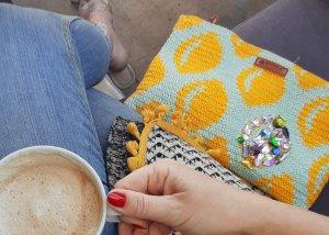 Crochet handmade yarn bag