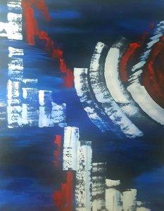 La última fantasía...ENVÍO GRATIS...Pintura 100x80 cm