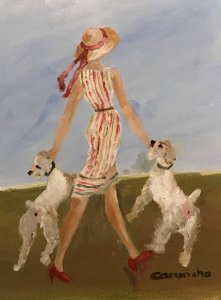 Lady with dogs