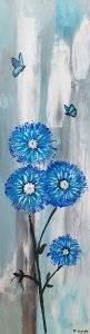 24 blue flowers